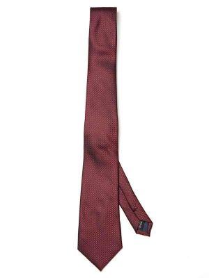 Kingcross Structure Dark Maroon Polyester Tie