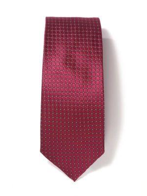 Kingcross Structure Maroon Dark Polyester Tie