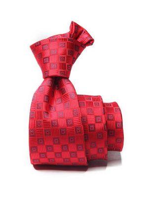 Kingscrest Minimals Dark Red Polyester Tie