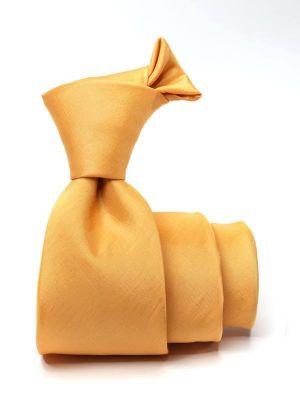 Kingston Plain Gold Medium Polyester Tie