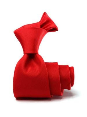 Kingston Slim Plain Dark Red Polyester Tie