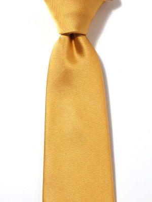 Kingston Slim Plain Dark Gold Polyester Tie
