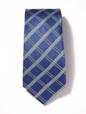 Panaro Checks Medium Blue Silk Tie