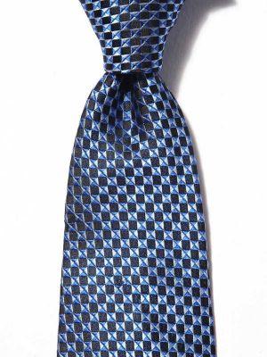 Panaro Structure Dark Blue Silk Tie