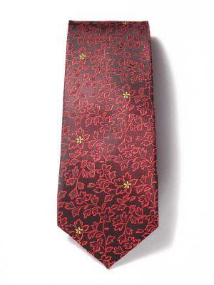 Prato All Over Dark Maroon Polyester Ties