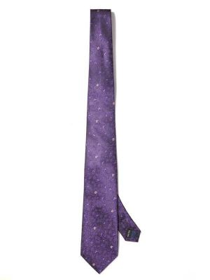 Prato All Over Dark Purple Polyester Ties