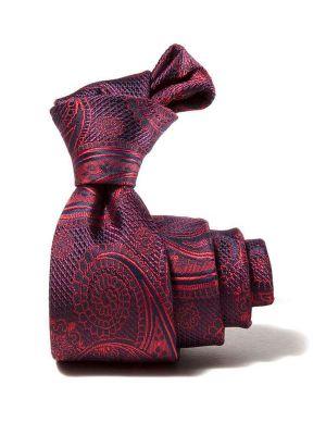 Prato All Over Dark Red Polyester Tie