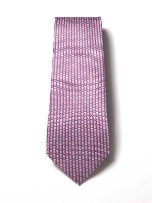 Saglia Printed Medium Pink Silk Tie