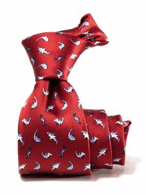 Saglia Printed Medium Maroon Silk Tie