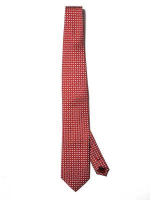 Saglia Printed Dark Red Silk Tie
