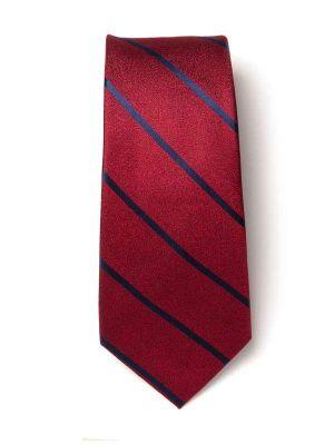 Sicilia Stripes Dark Maroon Silk Tie