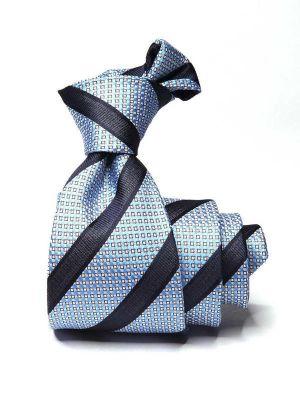 Sicilia Stripes Medium Blue Silk Ties
