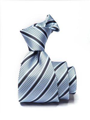 Sicilia Striped Medium Blue Silk Ties