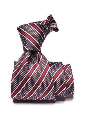 Sicilia Stripes Dark Maroon Silk Ties