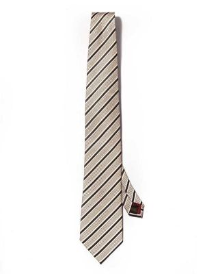 Sicilia Stripes Medium Beige Silk Ties