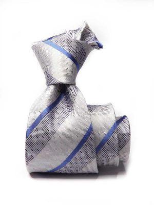 Sicilia Stripes Medium Grey Silk Ties