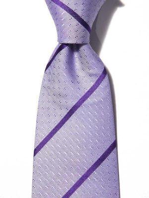 Sicilia Stripes Dark Lilac Silk Ties