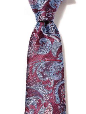 Torino All Over Purple Dark Silk Tie