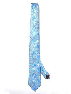 Torino All Over Light Blue Silk Tie