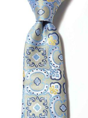 Torino All Over Light Yellow Silk Tie