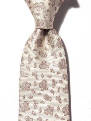 Torino All Over Medium Beige Silk Ties