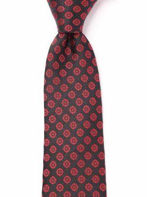 Verona All Over Dark Red Silk Tie