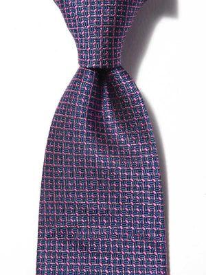 Verona Structure Dark Blue Silk Tie