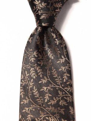 Torino All Over Dark Brown Silk Ties