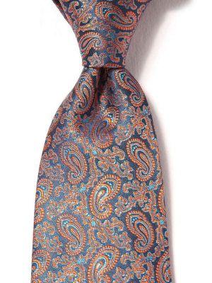 Torino Paisleys Navy Silk Tie