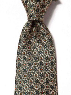 Torino All Over Medium Green Silk Ties