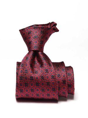 Torino All Over Dark Maroon Silk Ties