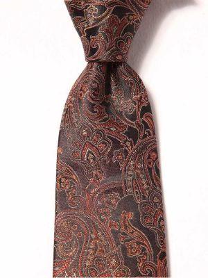 Torino Paisleys Dark Brown Silk Ties