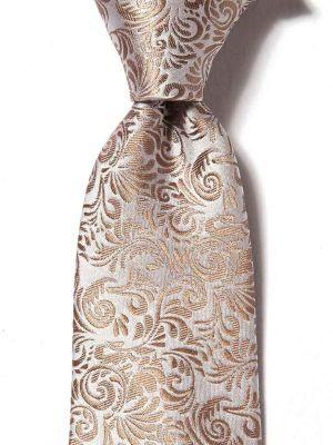 Torino Slim Paisleys Medium Beige Silk Ties