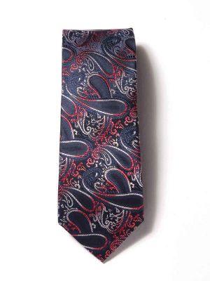 Torino Slim Paisleys Navy Silk Ties