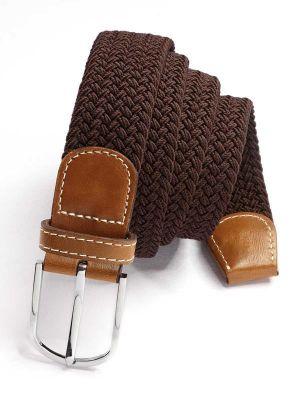 z3 Braided Brown Belt