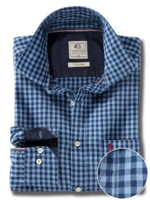 Elliot Indigo Casual Check Shirt