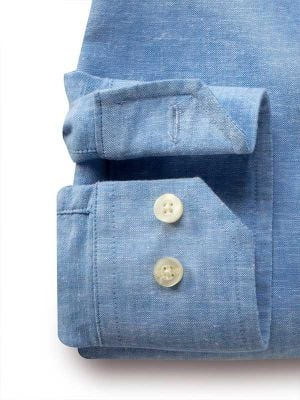 Sardinia Blue Blended Casual Solids Shirt