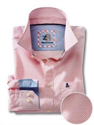Siesta Coral Cotton Casual Printed Shirt