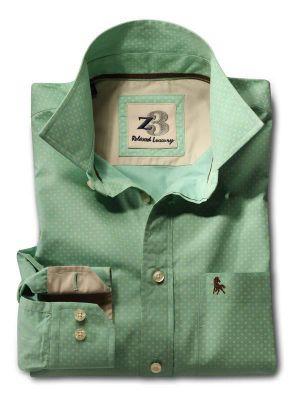 Nadal Green Casual Printed Shirt
