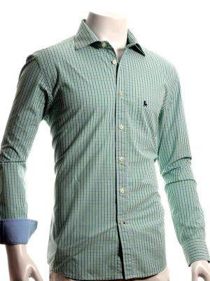 Wayne Green Blended Casual Checks Shirt