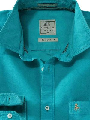 Manchester Jade Casual Solid Shirt