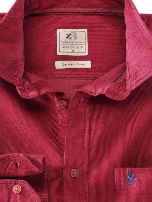 Rodeo Maroon Cotton Casual Corduroy Shirt