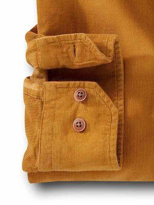 Rodeo Mustard Cotton Casual Corduroy Shirt
