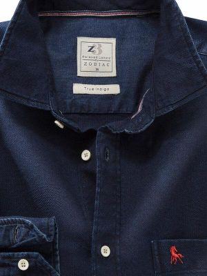 Sundance Indigo Navy Cotton Casual Solids Shirt