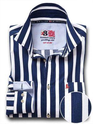 Sevilla Navy Casual Stripe Shirt