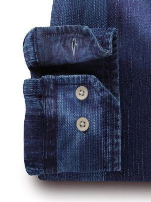 Eastwood Indigo Navy Cotton Casual Stripes Shirt