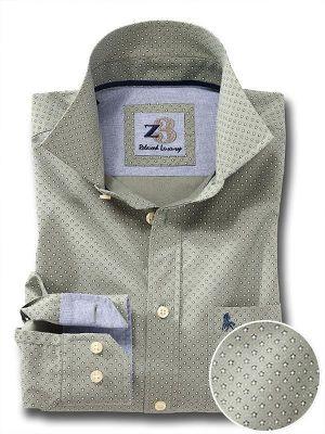 Pryor Olive Cotton Casual Prints Shirt
