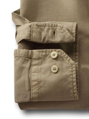 Marbella Oxford Olive Casual Solid Shirt