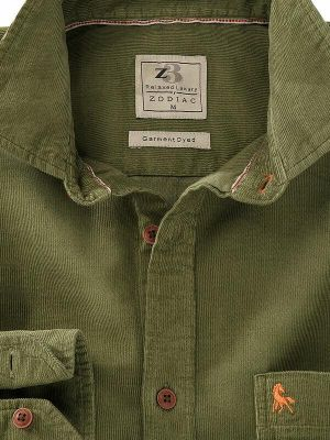 Rodeo Cord Olive Casual Shirt