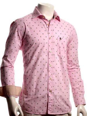 Islands Pink Casual Conversational Printed Shirt